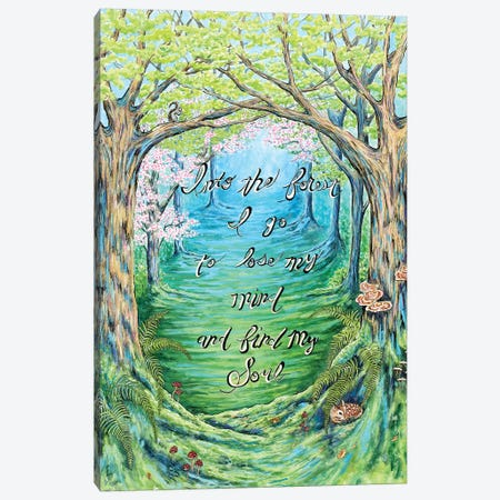 Into The Forest Canvas Print #FAB29} by Michelle Faber Canvas Wall Art