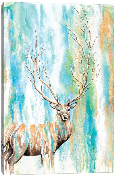 Deer Tree Canvas Art Print