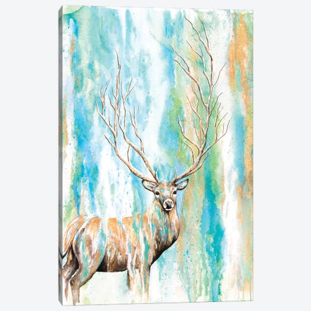 Deer Tree Canvas Print #FAB2} by Michelle Faber Canvas Artwork