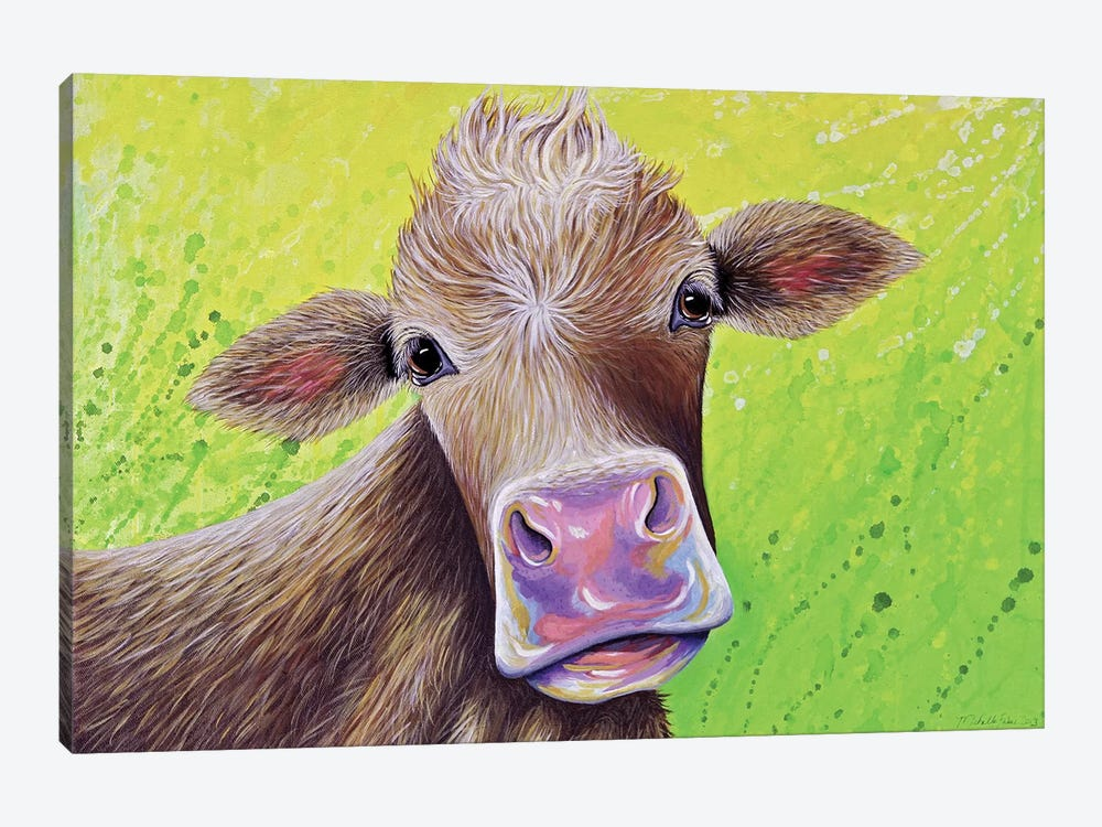 Jersey Cow by Michelle Faber 1-piece Canvas Art