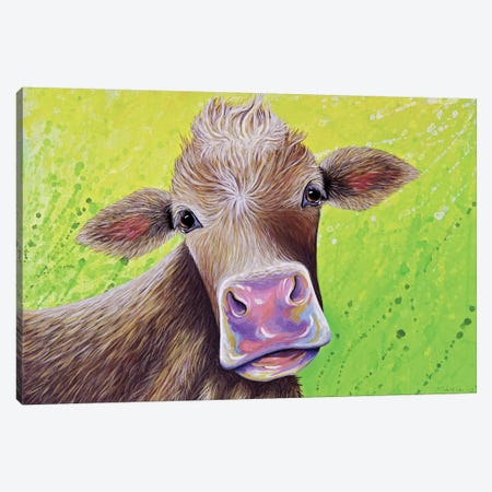 Jersey Cow 3-Piece Canvas #FAB30} by Michelle Faber Art Print