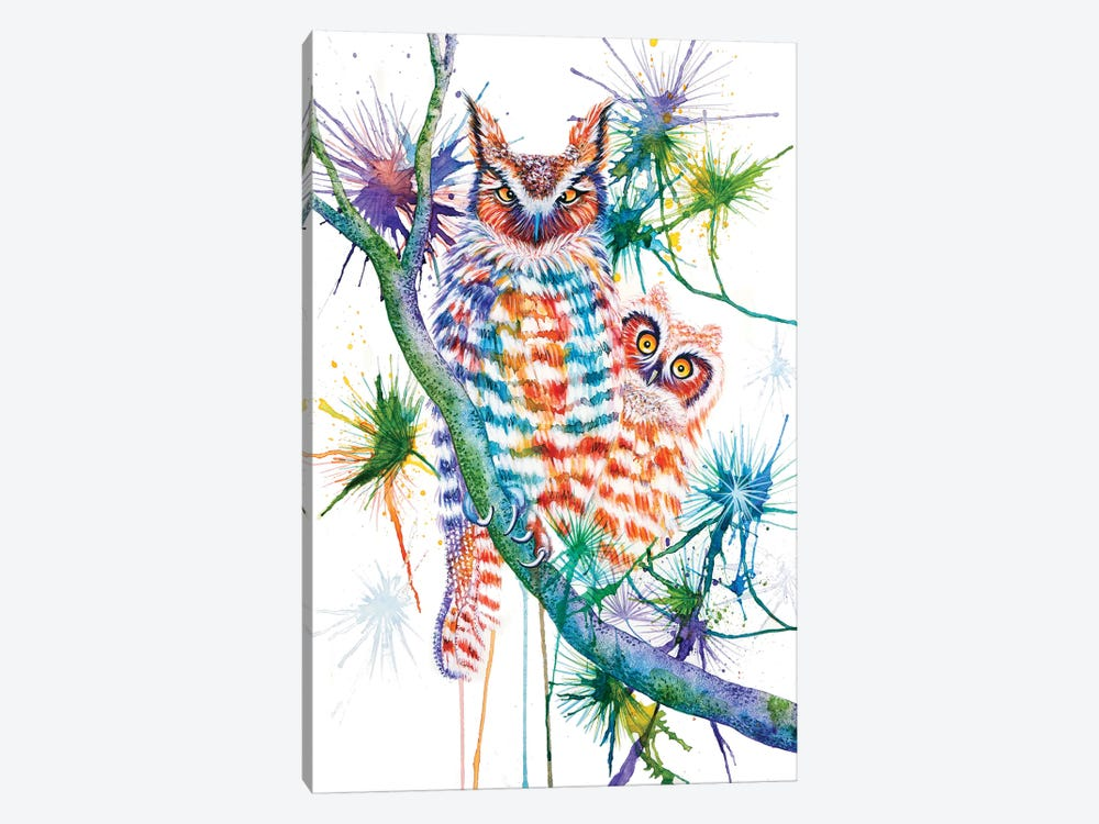 Momma And Baby Owl by Michelle Faber 1-piece Canvas Art