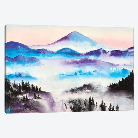 Mountain Mist Landscape Canvas Print #FAB34} by Michelle Faber Canvas Art
