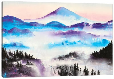 Mountain Mist Landscape Canvas Art Print