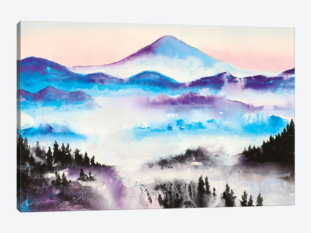 Mountain Mist Landscape 1-piece Canvas Art