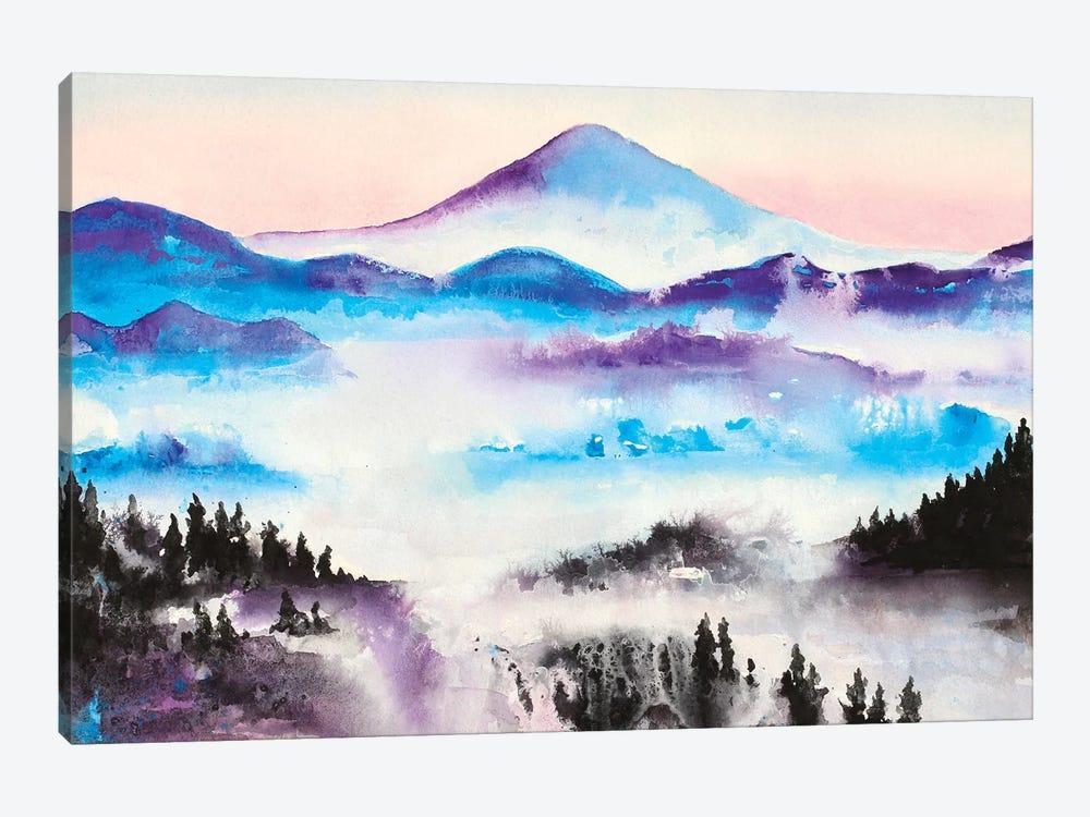 Mountain Mist Landscape by Michelle Faber 1-piece Canvas Art