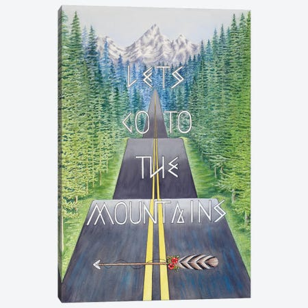 Mountain Travel Quote Canvas Print #FAB35} by Michelle Faber Canvas Art