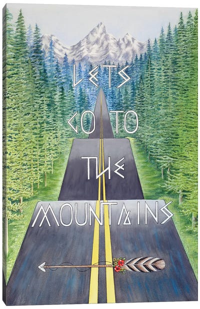 Mountain Travel Quote Canvas Art Print