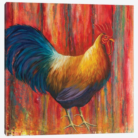 Mr. Rooster Canvas Print #FAB37} by Michelle Faber Canvas Wall Art