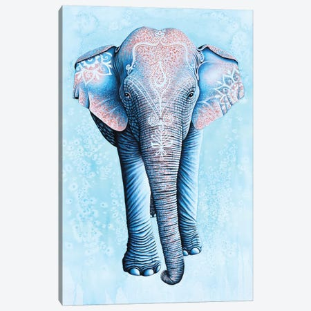 Painted Asian Elephant Canvas Print #FAB38} by Michelle Faber Canvas Art Print