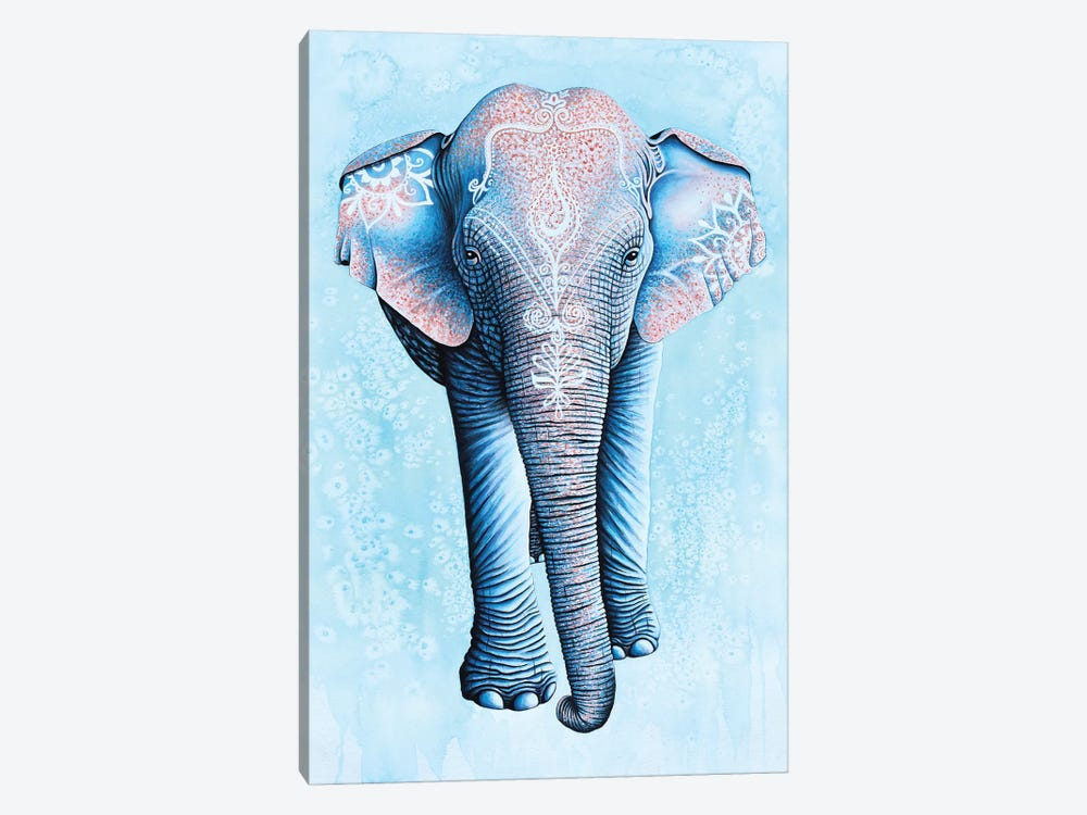 Painted Asian Elephant 1-piece Canvas Artwork