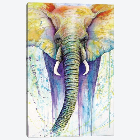 Elephant Colors Canvas Print #FAB3} by Michelle Faber Canvas Wall Art
