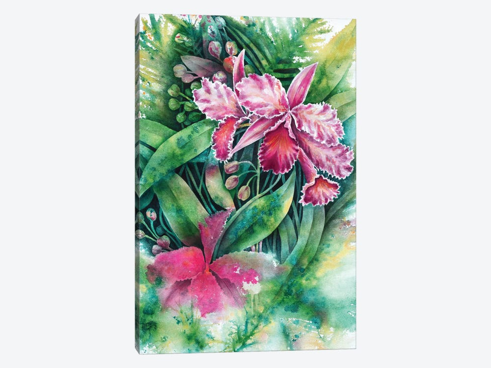 Pink Orchid by Michelle Faber 1-piece Art Print