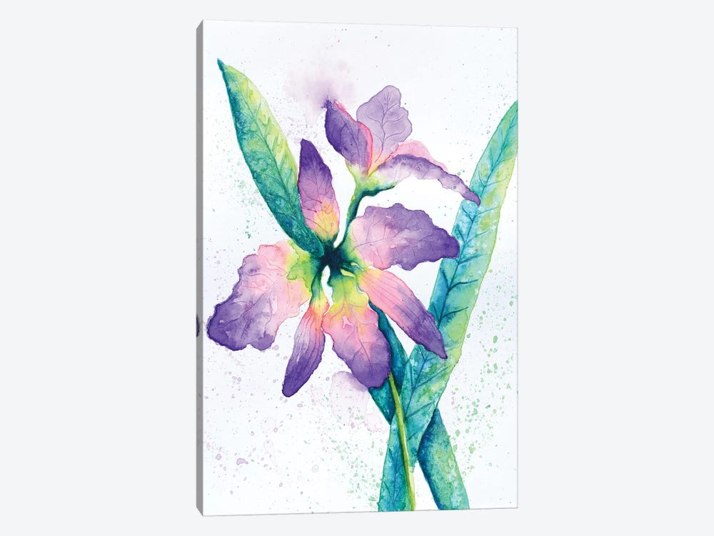 Purple Orchid by Michelle Faber 1-piece Art Print