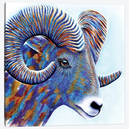 Ram Canvas Print #FAB43} by Michelle Faber Canvas Artwork