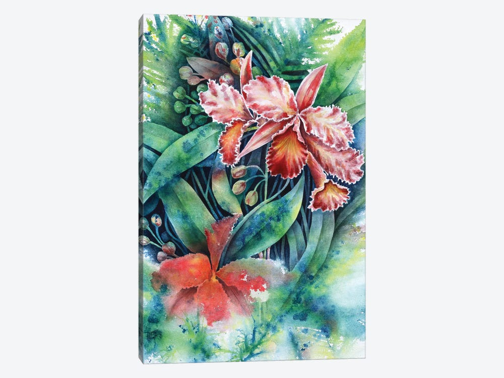 Red Orchid by Michelle Faber 1-piece Canvas Art Print