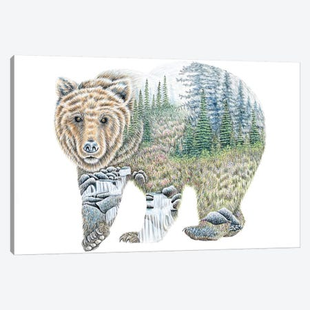 Scenic Bear Canvas Print #FAB46} by Michelle Faber Canvas Art Print