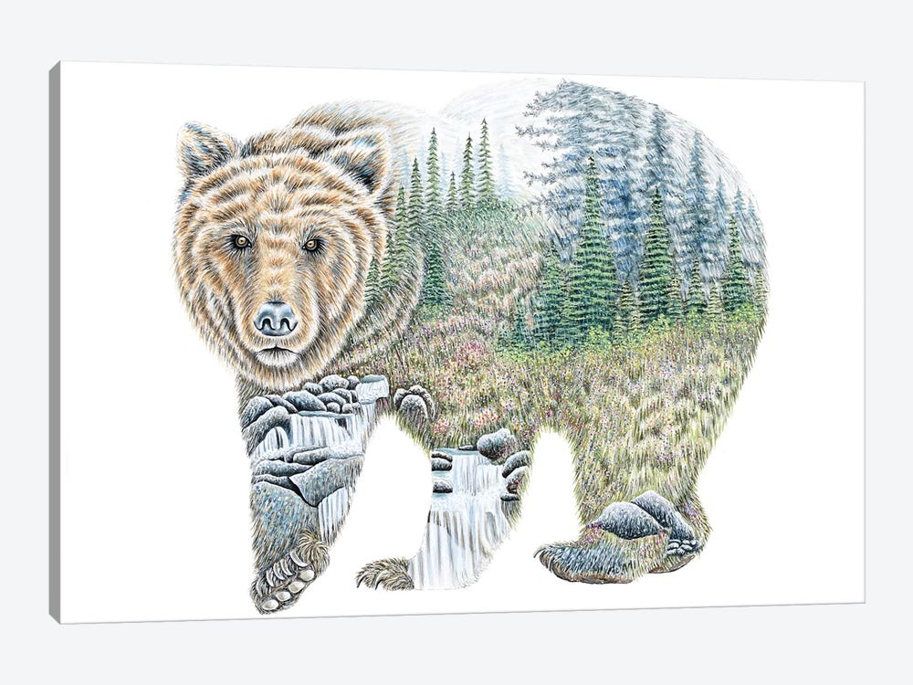 Scenic Bear by Michelle Faber 1-piece Canvas Print