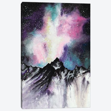 Starruption Galaxy Landscape Canvas Print #FAB52} by Michelle Faber Art Print