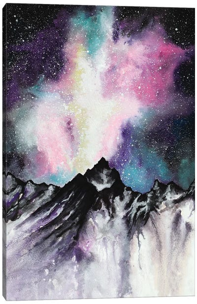 Starruption Galaxy Landscape Canvas Art Print