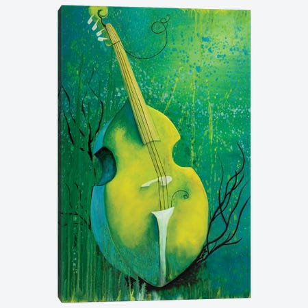 Sunken Dreams Cello Canvas Print #FAB53} by Michelle Faber Canvas Art Print