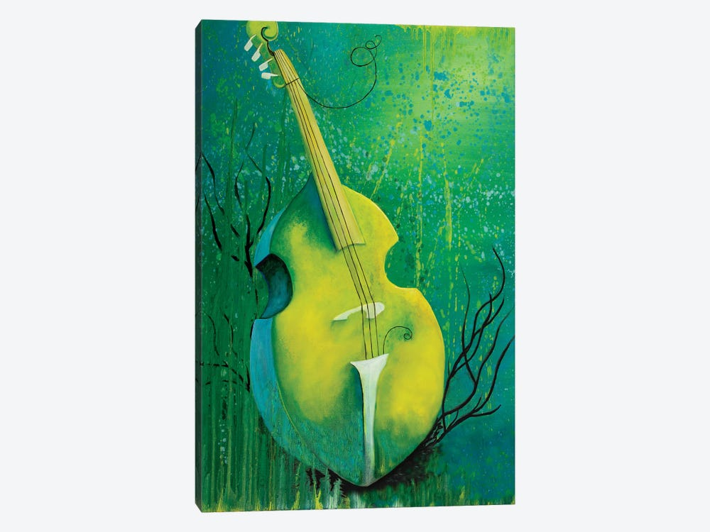 Sunken Dreams Cello by Michelle Faber 1-piece Canvas Art Print