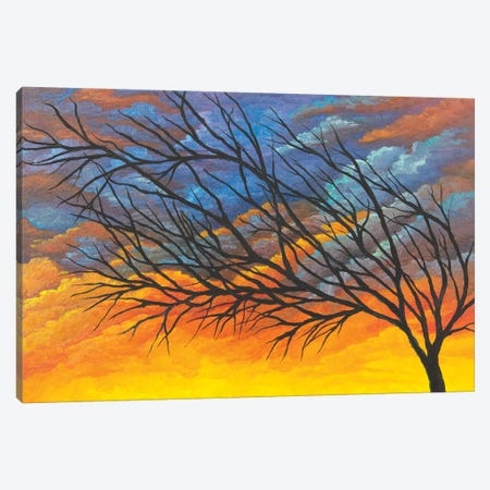 Sunset Tree Canvas Print #FAB54} by Michelle Faber Canvas Artwork