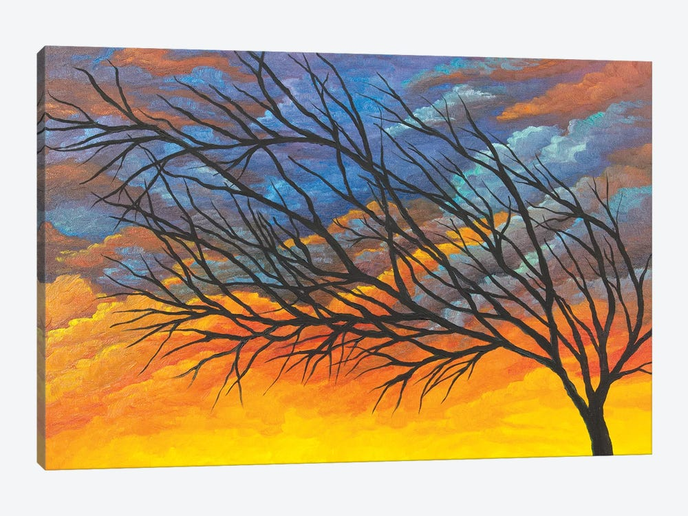 Sunset Tree by Michelle Faber 1-piece Canvas Art