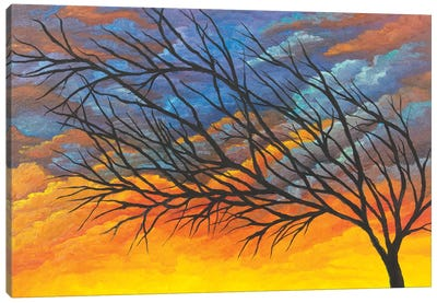 Sunset Tree Canvas Art Print