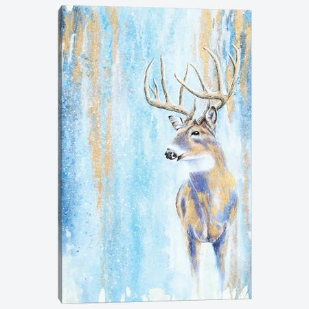 Winter Buck Canvas Print #FAB56} by Michelle Faber Canvas Art