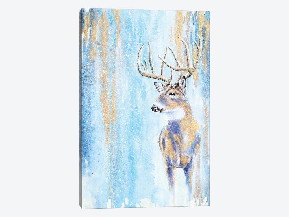 Winter Buck 1-piece Canvas Artwork