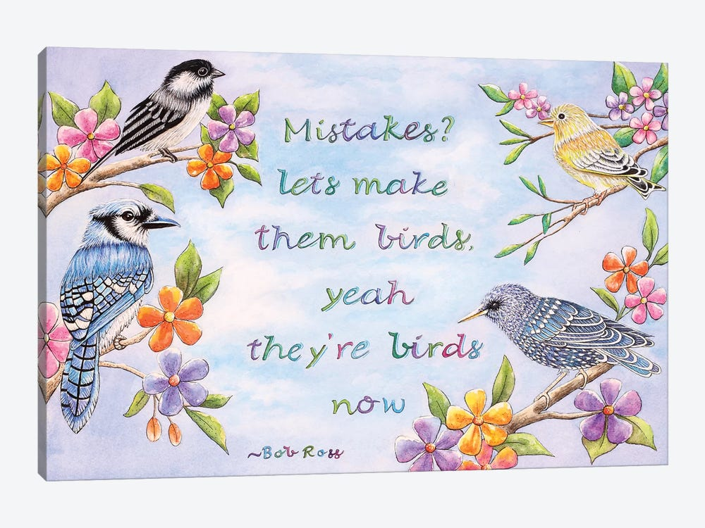 Birds And Flowers Quote by Michelle Faber 1-piece Canvas Art