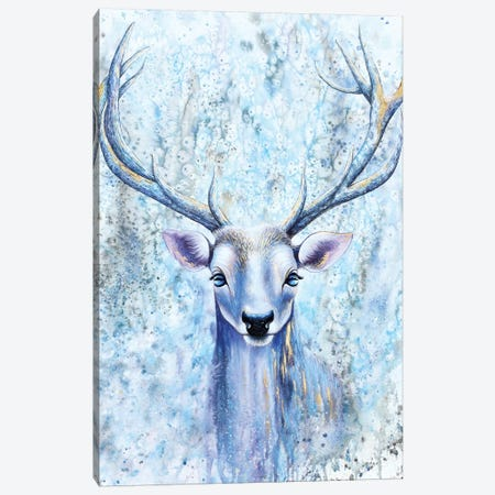 Blue Spirit Deer Canvas Print #FAB9} by Michelle Faber Canvas Art