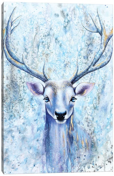 Blue Spirit Deer Canvas Art Print
