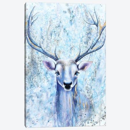 Blue Spirit Deer Canvas Print #FAB9} by Michelle Faber Canvas Art