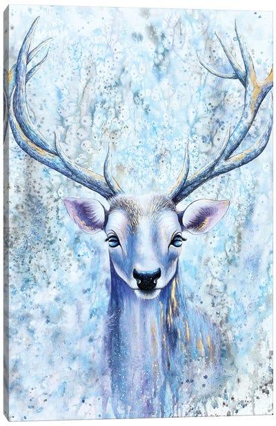 Blue Spirit Deer Canvas Art Print