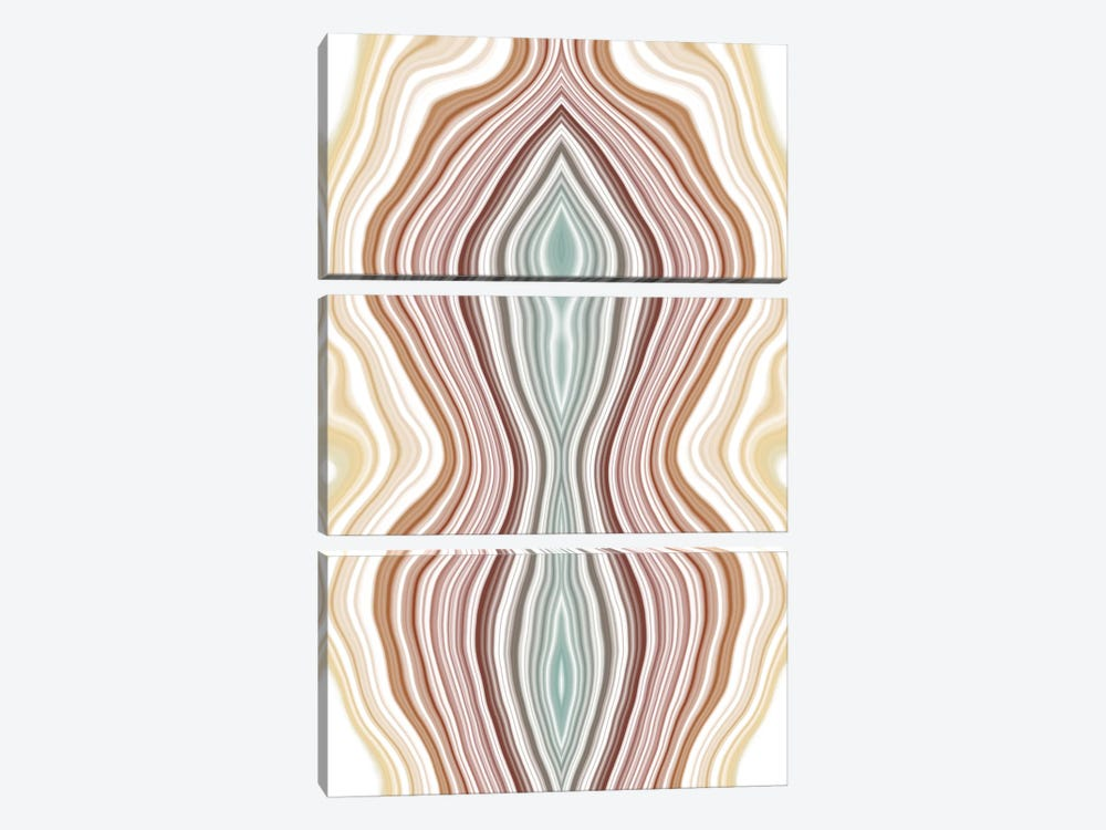 Fluctuating Tides by 5by5collective 3-piece Canvas Art