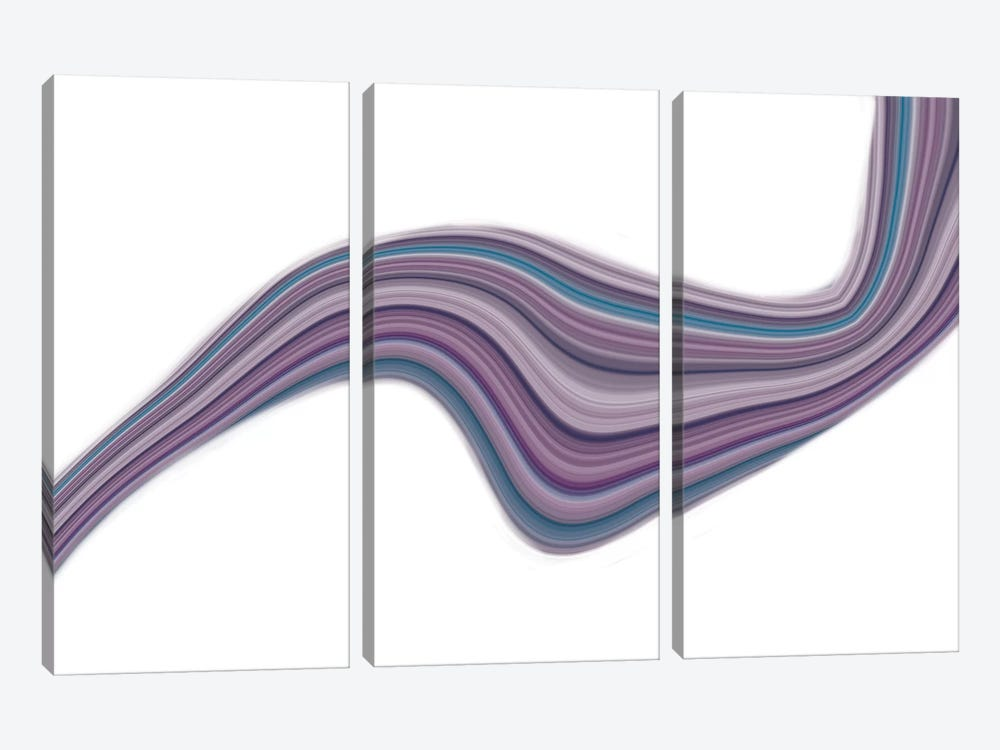 Fluid Violet by 5by5collective 3-piece Canvas Print