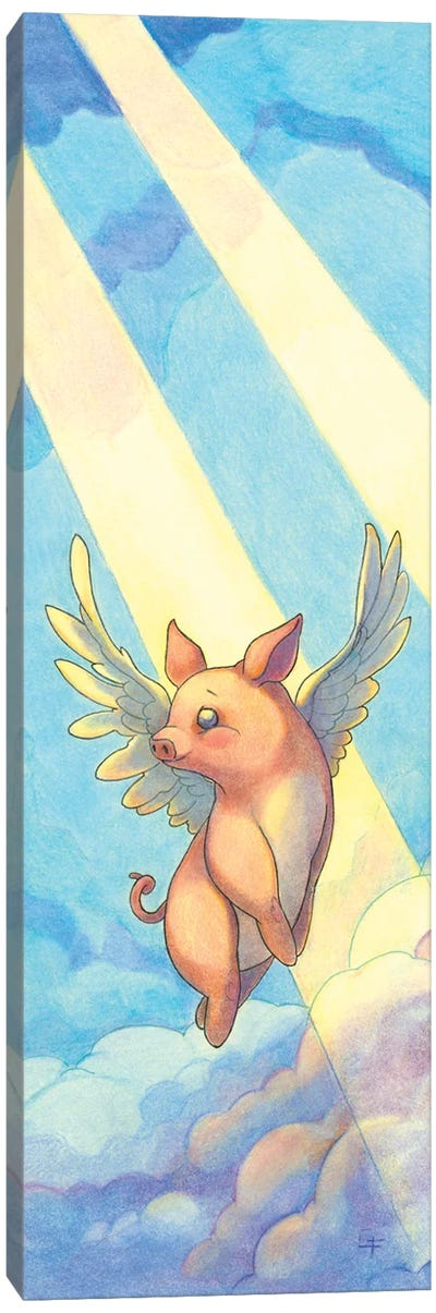 Pigs Might Fly Canvas Art Print