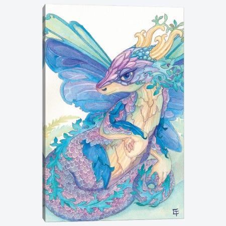Opal Dragon Canvas Print #FAI101} by Might Fly Art & Illustration Canvas Print