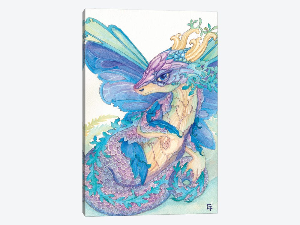 Opal Dragon by Might Fly Art & Illustration 1-piece Canvas Art Print