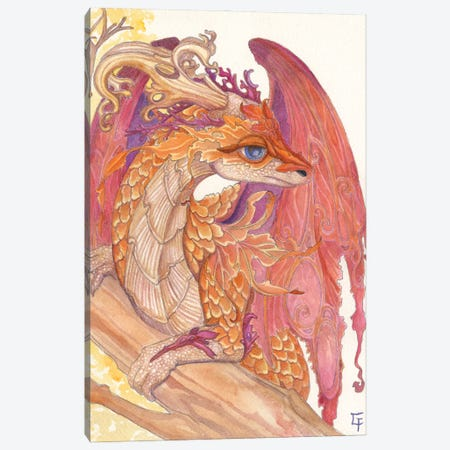 Autumn Dragon Canvas Print #FAI102} by Might Fly Art & Illustration Canvas Print