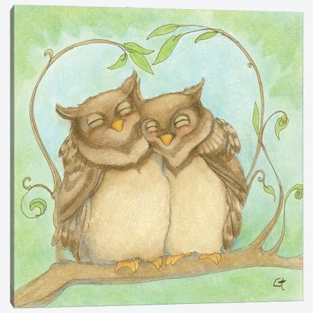 Owl Always Love You Canvas Print #FAI15} by Might Fly Art & Illustration Canvas Print