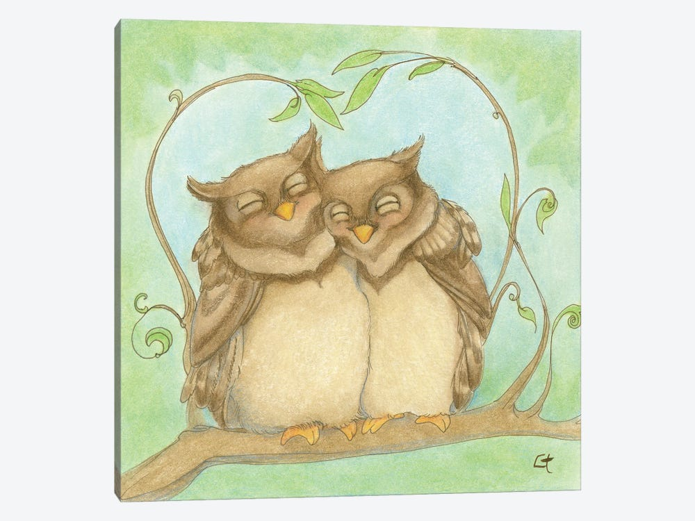 Owl Always Love You by Might Fly Art & Illustration 1-piece Canvas Art