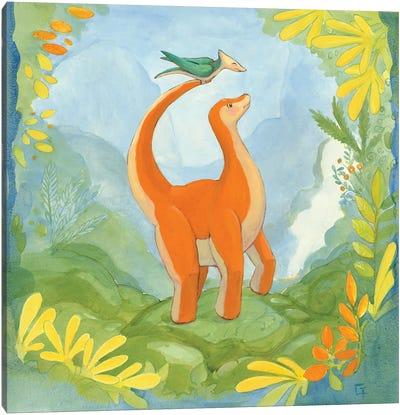 Cuddly Brontosaurus Canvas Art Print