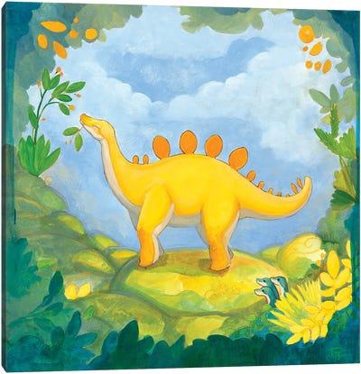 Cuddly Stegosaurus Canvas Art Print