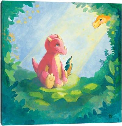 Cuddly Triceratops Canvas Art Print