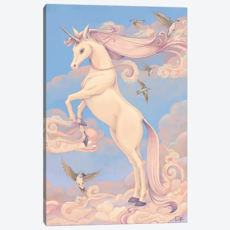 Unicorn Canvas Print #FAI24} by Might Fly Art & Illustration Canvas Wall Art