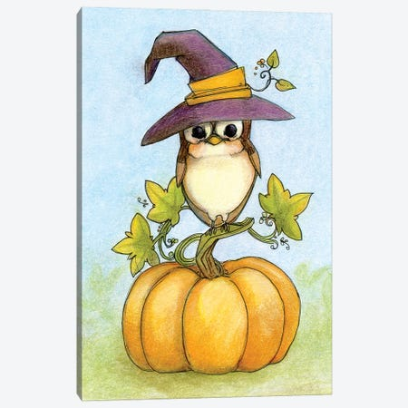 Owloween Canvas Print #FAI25} by Might Fly Art & Illustration Canvas Artwork