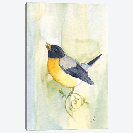 Song Bird Canvas Print #FAI26} by Might Fly Art & Illustration Canvas Wall Art